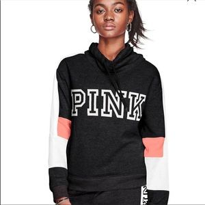 Pink Victoria secret cowl neck hoodie